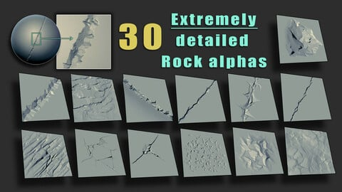 Detailed Rock Brushes/Alphas
