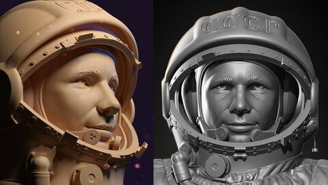 Yuri Gagarin bust for 3D printing / Юрий Гагарин