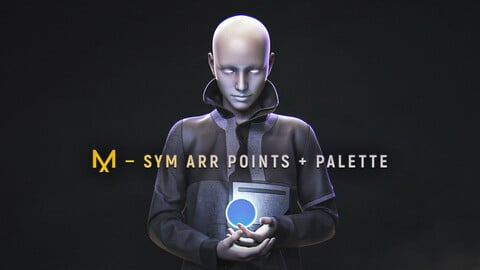 MD — Sym Arr Points for DAZ Gen 8 + Palette + Glove (Update 2)