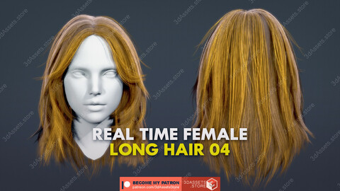 Character - Real Time Female Long Hair 04