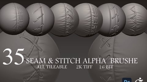 35 seam & stitch alpha  brushe