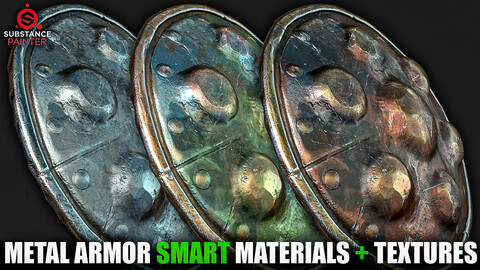 Metal Armor Smart Materials (Substance Painter + Textures)