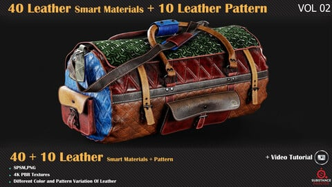 40 Leather Smart Materials + 10 Leather Patterns + Video Tutorials