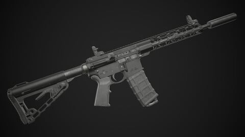 AR15 Rifle (Game Ready)
