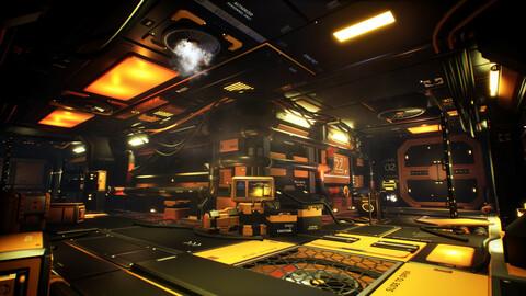 STYLIZED - Sci-Fi Corridor Unreal Engine