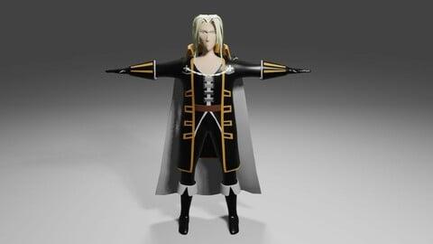 Anime Vampire Rigged 3D model