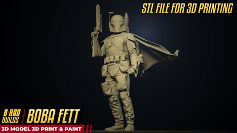 3D Printable BOBA FETT STL Model