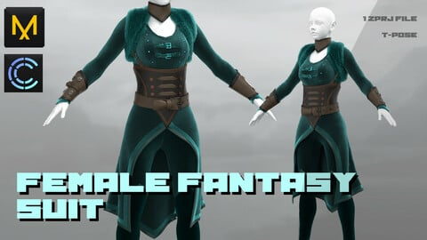 Female Fantasy Suit /MD CLO3D ZBRUSH project