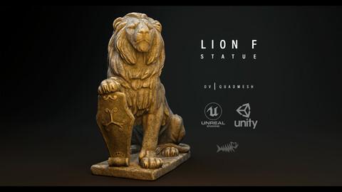 Lion F Statue PBR 4K