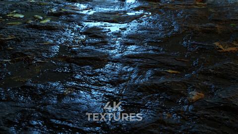 Wet rock floor