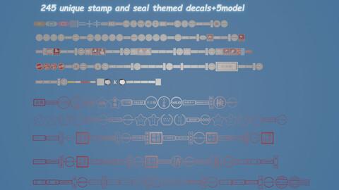 Memento Aurora Stamp and Seal Decals