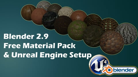 Free Massive Unreal Engine 4 & Blender Nature Material Pack