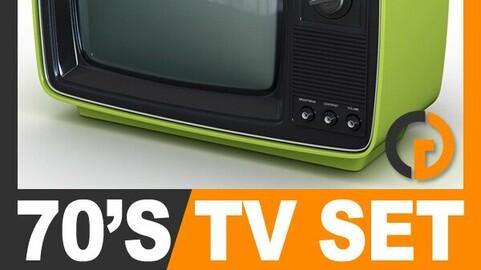 Retro 70's Television Set
