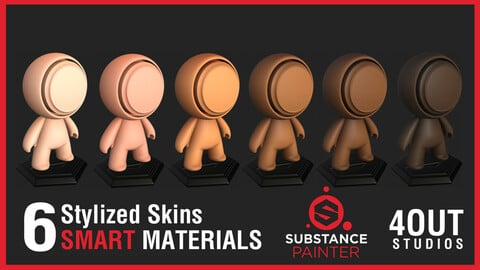 Stylized Skin Smart Materials for Substance Painter