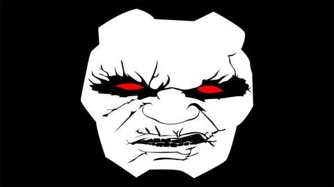 Darkseid face vector illustration