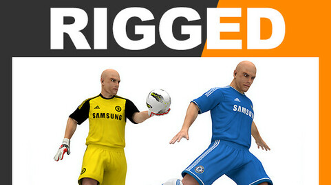 Rigged Football Player and Goalkeeper - Chelsea FC