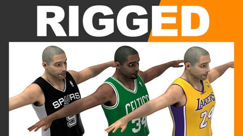Rigged Basketball Players - NBA Pack