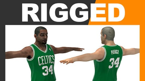 Rigged Basketball Player - Boston Celtics