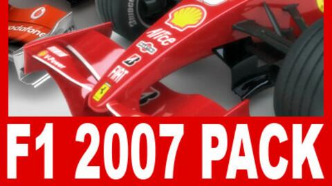 F1 2007 McLaren MP4-22 Ferrari F2007