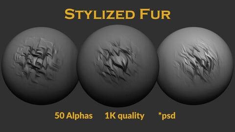50 Stylized Fur Alphas