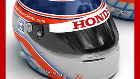 Helmet F1 2008 Takuma Sato