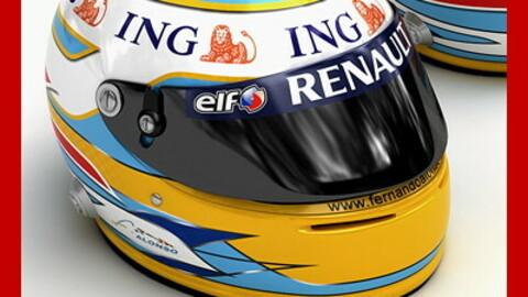 Helmet F1 2008 Fernando Alonso