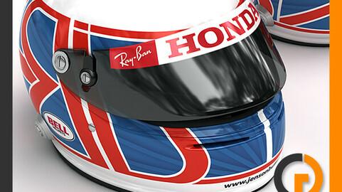 Helmet F1 2008 Jenson Button