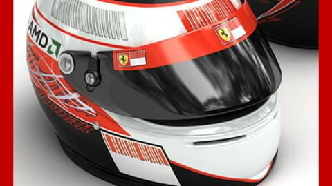 Helmet F1 2008 2009 Kimi Raikkonen