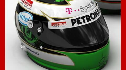 Helmet F1 2008 2009 Nick Heidfeld
