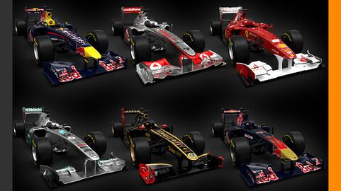 F1 2011 Cars - Ferrari McLaren Red Bull Toro Rosso Mercedes Renault