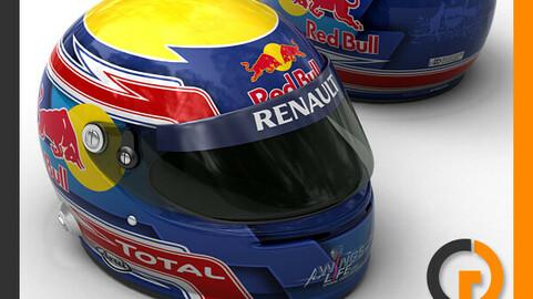 Helmet F1 2011 Mark Webber