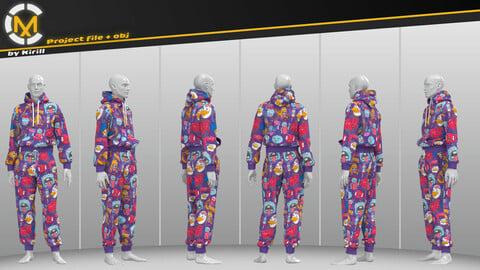 Unisex Suit, Monsters. Clo3D/Marvelous Project + Obj.