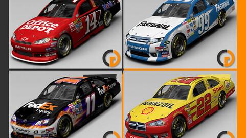 Nascar 2012 Different Bodyworks Cars