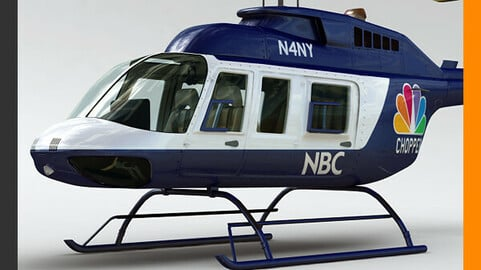 Helicopter News Bell 206L with Interior