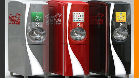 Coca Cola Freestyle Jet Fountain of the Future Vending Machine