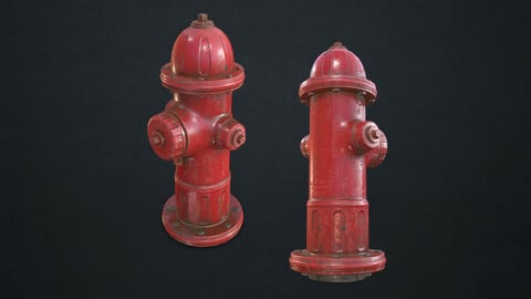 Fire Hydrant - Low Poly