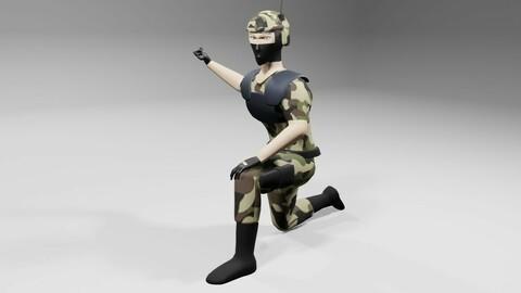 Soldier - Army - Soldado Low-poly 3D model