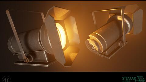 3D Spotlight Asset 4K Texures