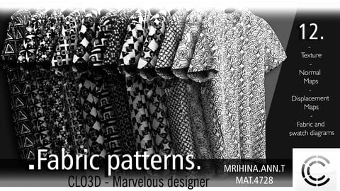 12 .Fabric patterns. CLO3D + MD