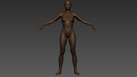 ZBrush African Female 01