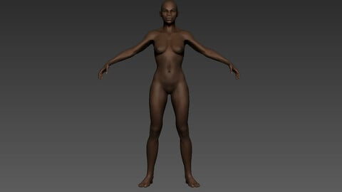 ZBrush African Female 01