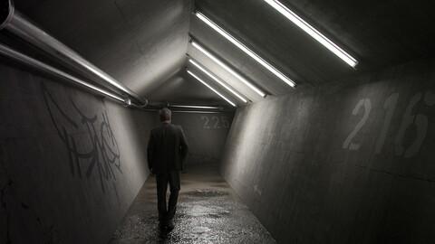 Underground Tunnel Blender Files