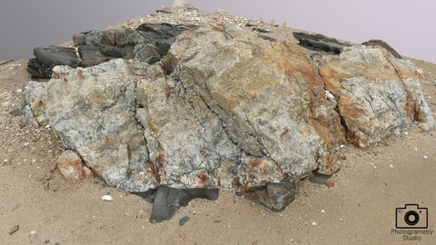 OBJ_Beach Rock_0001(Photogrametry)