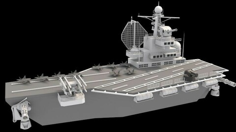 aircraft carrier Low-poly 3D model