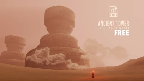 Ancient Tower - Free OBJ D Model