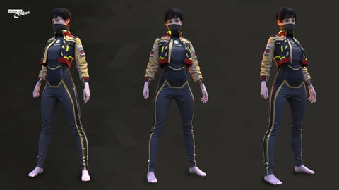 Sci-Fi Fantasy Wear 03 Female - 67 Marvelous Designer and Clo3D
