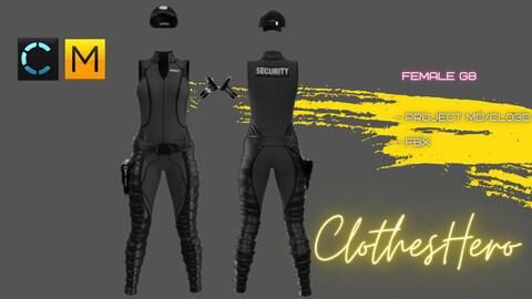 Police Female (jumpsuit + cap).