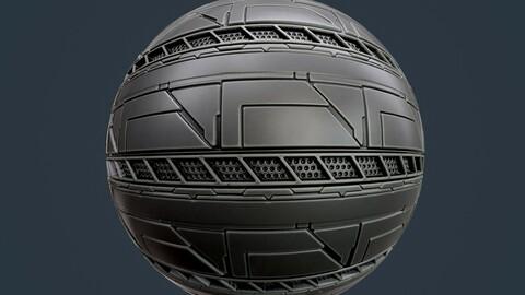 Sci-Fi Military Seamless PBR Texture 120