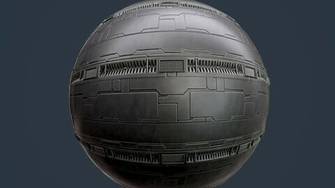 Sci-Fi Military Seamless PBR Texture 127