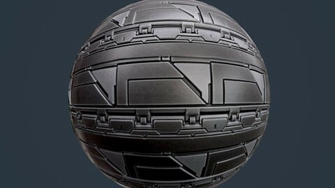 Sci-Fi Military Seamless PBR Texture 137